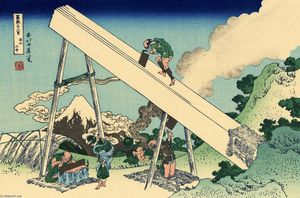 Katsushika Hokusai - The Fuji from the mountains of Totomi