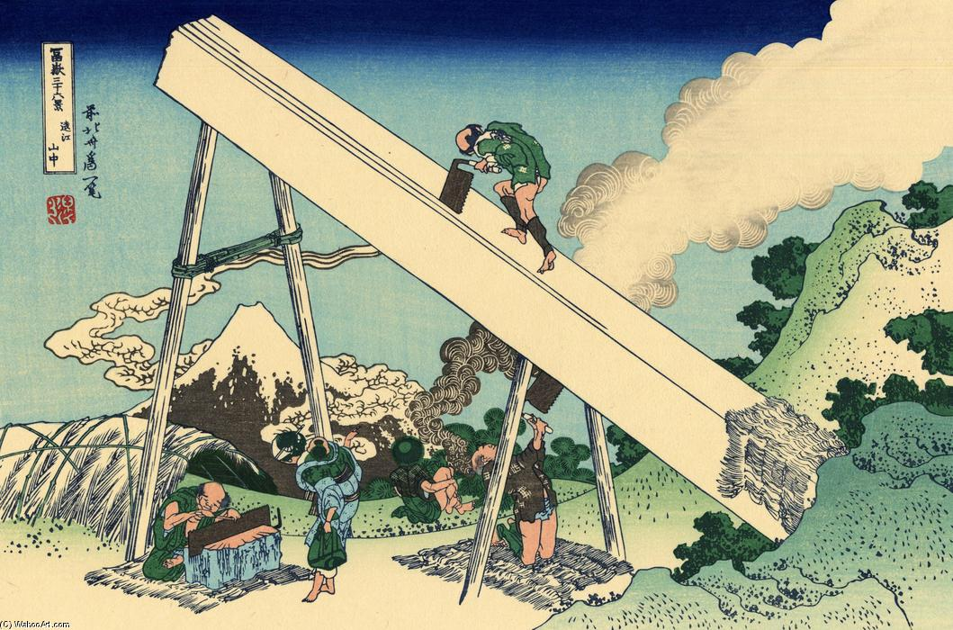 The Fuji from the mountains of Totomi by Katsushika Hokusai (1760-1849, Japan)