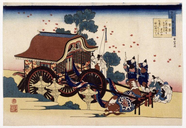 The Bullock Cart, 1839 by Katsushika Hokusai (1760-1849, Japan)