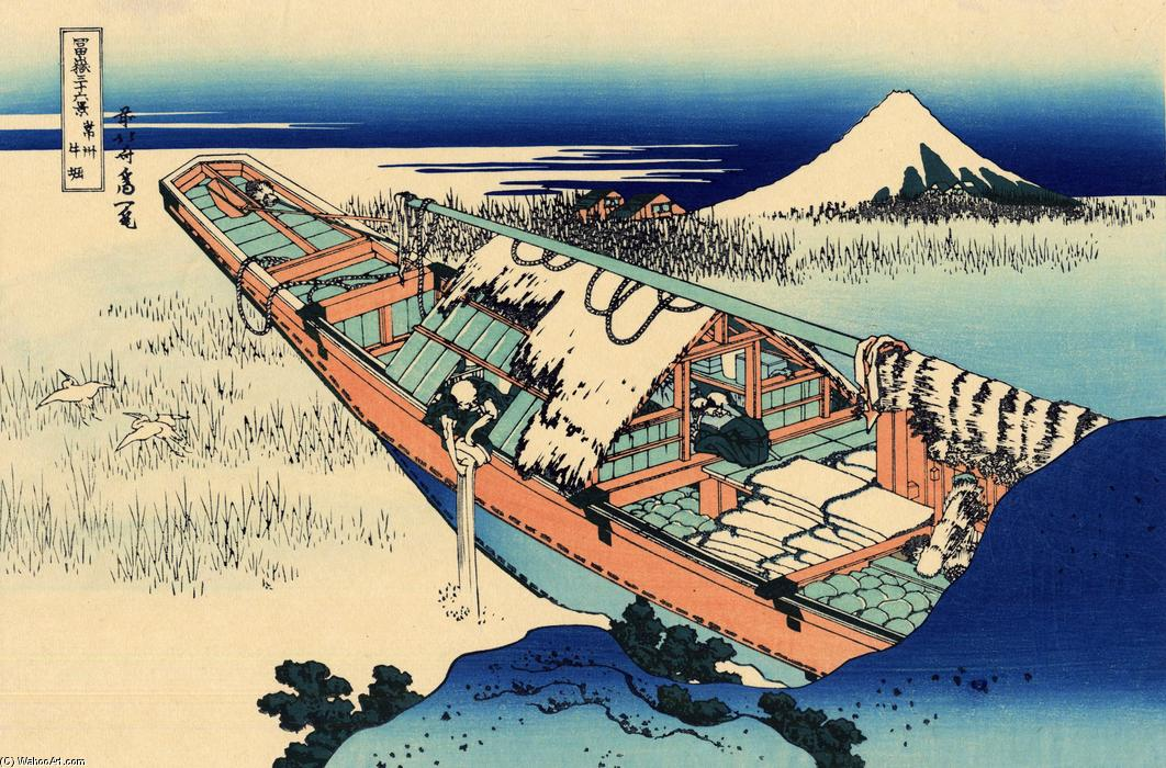 Ushibori in the Hitachi province by Katsushika Hokusai (1760-1849, Japan) | ArtsDot.com