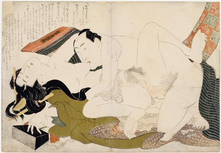 Models Hugs by Katsushika Hokusai (1760-1849, Japan) | Museum Quality Reproductions | ArtsDot.com
