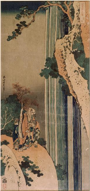 The poet Li Po by Katsushika Hokusai (1760-1849, Japan)