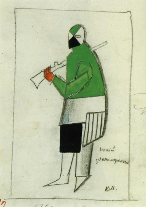 Someone Wicked, 1913 by Kazimir Severinovich Malevich (1879-1935, Ukraine) | Art Reproduction | ArtsDot.com