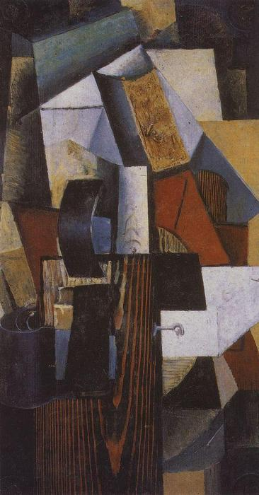 Station Without a Stop. Kunzevo., 1913 by Kazimir Severinovich Malevich (1879-1935, Ukraine) | Oil Painting | ArtsDot.com