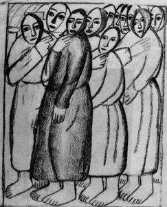 Kazimir Severinovich Malevich - Peasant Women in a Church