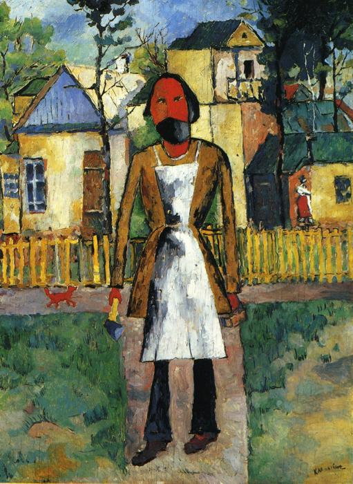 Carpenter, 1927 by Kazimir Severinovich Malevich (1879-1935, Ukraine) | Painting Copy | ArtsDot.com