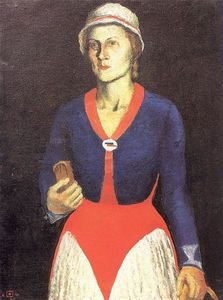 Kazimir Severinovich Malevich - Portrait of the Artist-s Wife