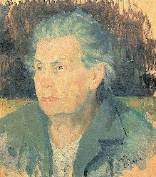 Portrait of Mother by Kazimir Severinovich Malevich (1878-1935, Ukraine)