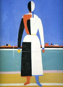 Kazimir Severinovich Malevich - Woman with Rake