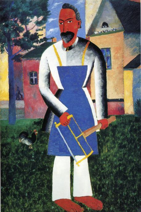 On Vacation, Oil by Kazimir Severinovich Malevich (1878-1935, Ukraine)