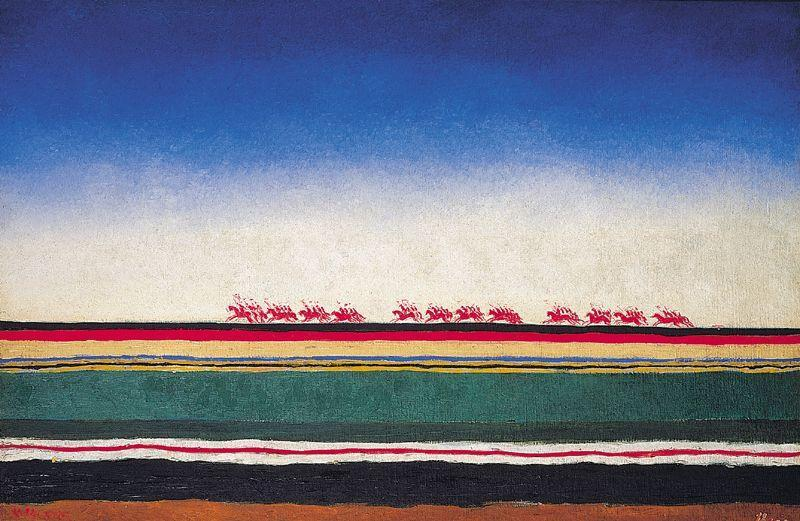 Red Cavalry, 1932 by Kazimir Severinovich Malevich (1878-1935, Ukraine)