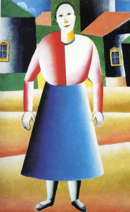 Girl in the Country by Kazimir Severinovich Malevich (1879-1935, Ukraine) | Museum Art Reproductions | ArtsDot.com