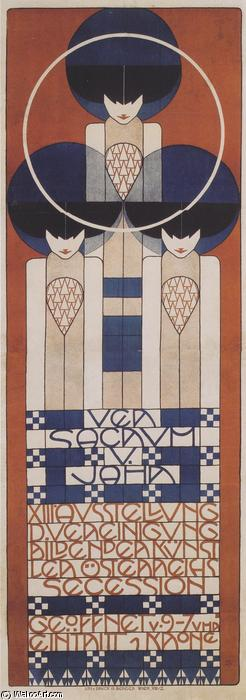 Order Paintings Reproductions | Poster for the XIII. Secession, 1902 by Koloman Moser (1868-1918, Croatia) | ArtsDot.com