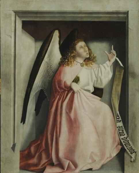 Buy Museum Art Reproductions : Angel of Annunciation, 1435 by Konrad Witz (1400-1446, Germany) | ArtsDot.com