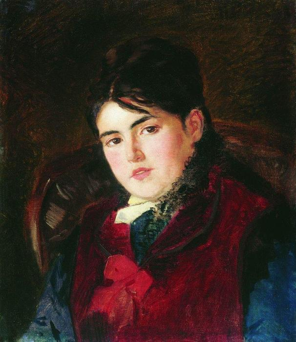 Female Portrait by Konstantin Yegorovich Makovsky (1839-1915, Russia) | Museum Quality Reproductions | ArtsDot.com