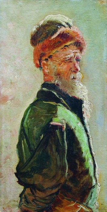 Old Man, 1890 by Konstantin Makovsky (1839-1915, Russia)