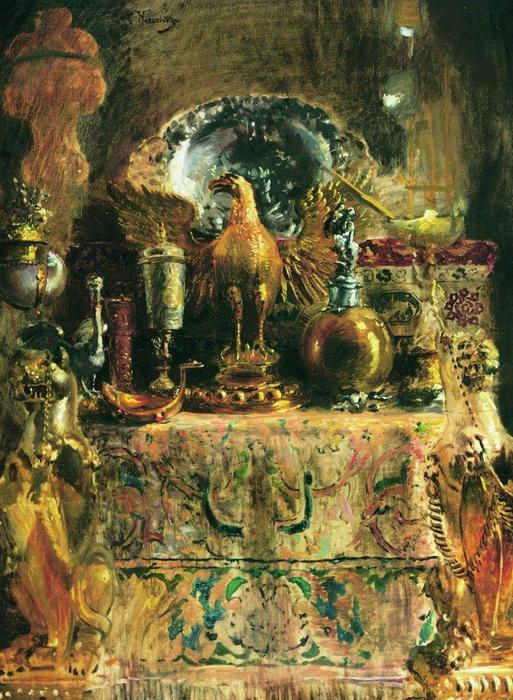 Still Life (Palace of Facets), 1890 by Konstantin Yegorovich Makovsky (1839-1915, Russia)
