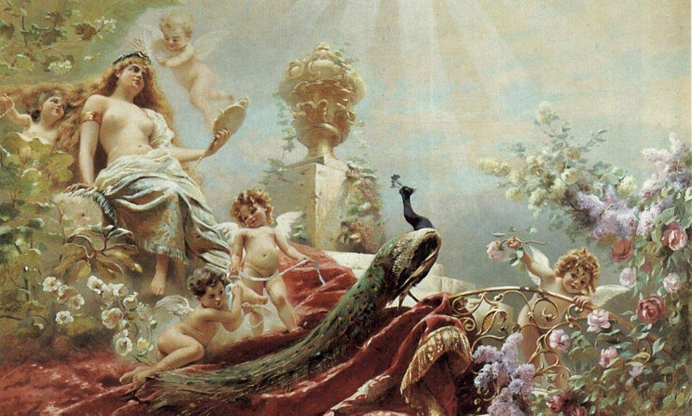 The Toilet of Venus, Oil On Canvas by Konstantin Yegorovich Makovsky (1839-1915, Russia)