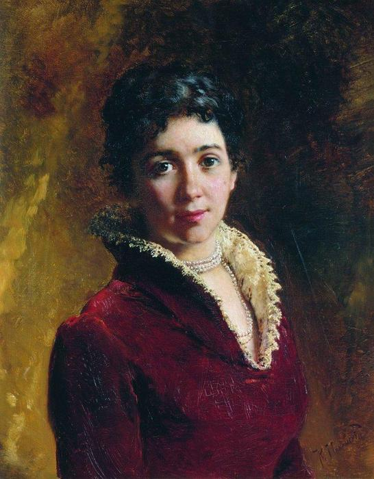Female Portrait (9), 1880 by Konstantin Makovsky (1839-1915, Russia)