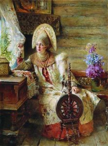 Konstantin Yegorovich Makovsky - Boyaryshnya by the window