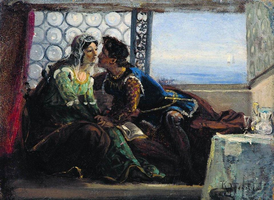 Romeo and Juliet, 1890 by Konstantin Makovsky (1839-1915, Russian Empire)