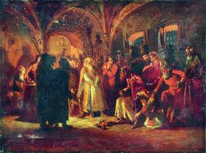 Konstantin Yegorovich Makovsky - Boris Morozov and Ivan the Terrible