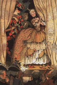 Konstantin Somov - Book of the Marquise. Illustration 1