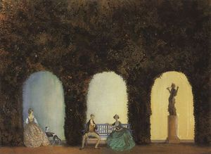 Konstantin Somov - In the Bosquet