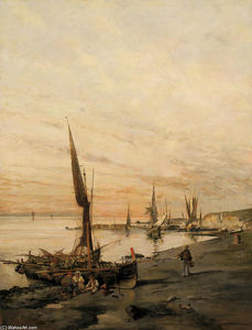 Konstantinos Volanakis - Sunset over the bay