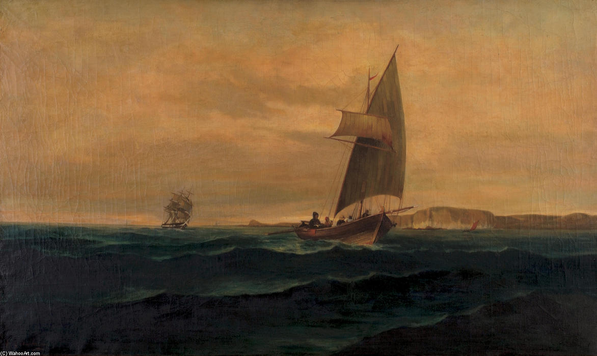 Buy Museum Art Reproductions : The crossing by Konstantinos Volanakis (1837-1907, Greece) | ArtsDot.com