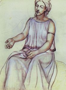 Kuzma Petrov-Vodkin - A woman in a chiton