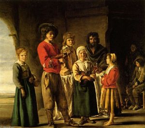 Antoine (Brother) Le Nain - Peasants in the cave house