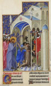 Limbourg Brothers - Curing a Possessed Woman