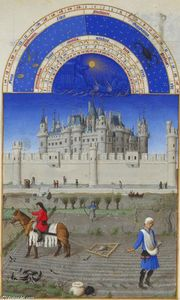 Limbourg Brothers - October: Sowing the Winter Grain