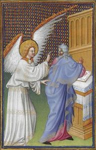 Limbourg Brothers - The Archangel Gabriel App..