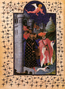 Limbourg Brothers - The Departure of Jean de France Duke of Berry