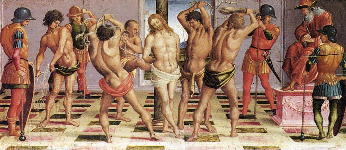 The Flagellation, Oil by Luca Signorelli (1450-1523, Italy)