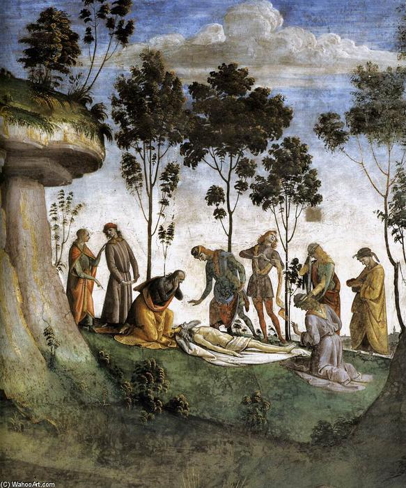 Moses's Testament and Death (detail), Frescoes by Luca Signorelli (1445-1523, Italy)