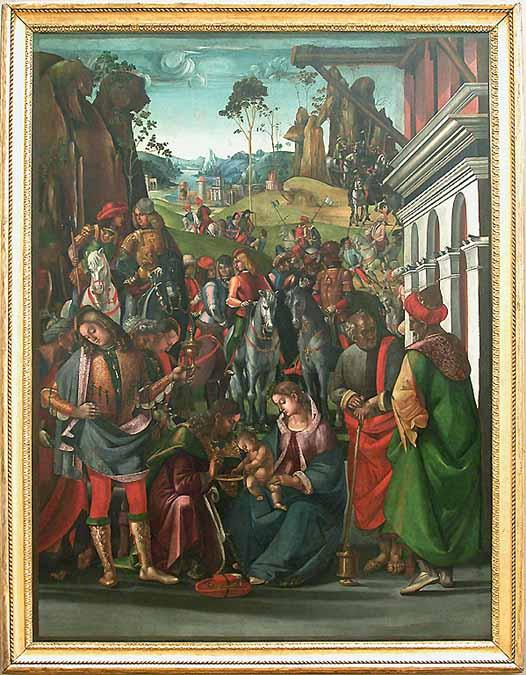 Adoration of the Magi by Luca Signorelli (1450-1523, Italy)