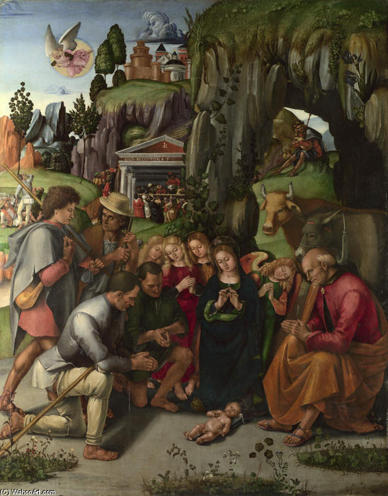 Adoration of the Shepherds by Luca Signorelli (1445-1523, Italy)