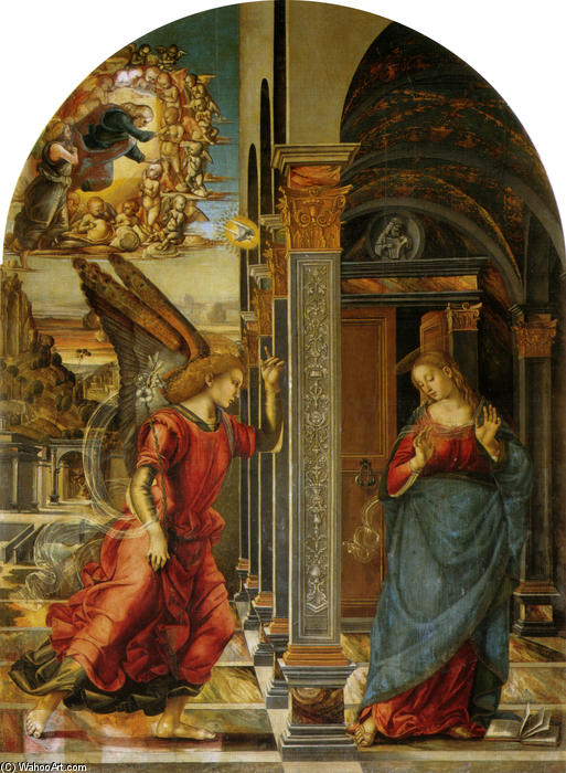 Annunciation by Luca Signorelli (1450-1523, Italy)