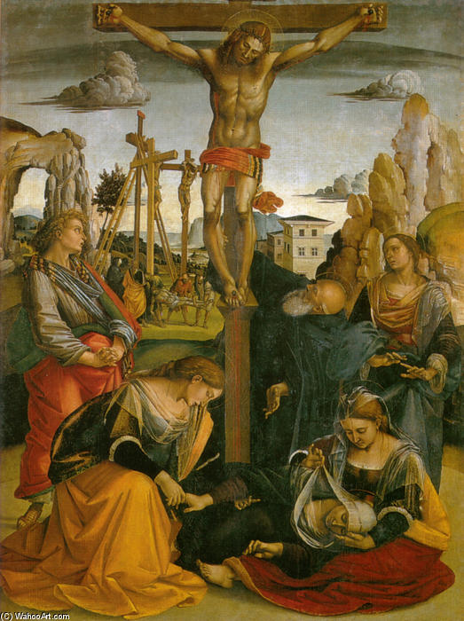 Crucifixion of St. Sepulchre by Luca Signorelli (1445-1523, Italy)