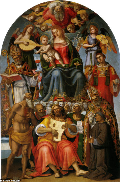 Madonna and Child with Saints by Luca Signorelli (1445-1523, Italy)