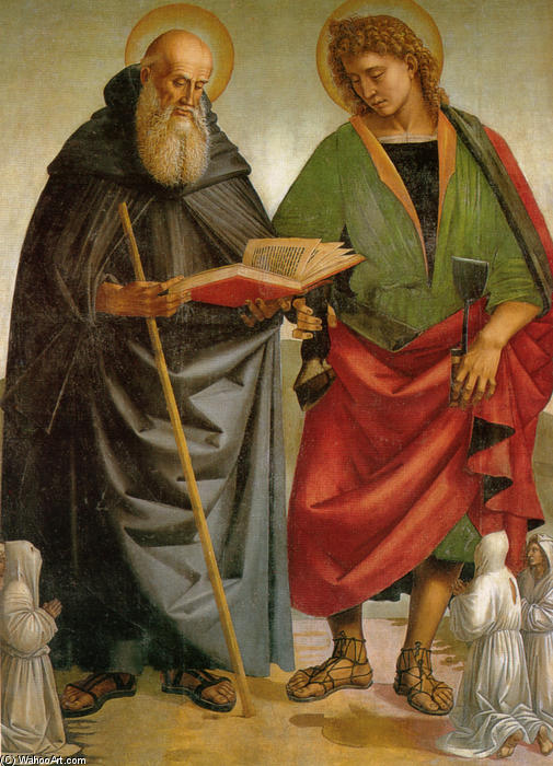 Saints Eligius and Antonio by Luca Signorelli (1445-1523, Italy)