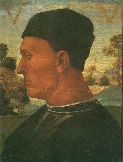 Portrait of Vitellozzo Vitelli, 1496 by Luca Signorelli (1445-1523, Italy)