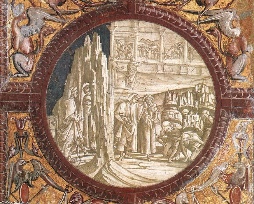 Dante and Virgil Entering Purgatory, Frescoes by Luca Signorelli (1445-1523, Italy)