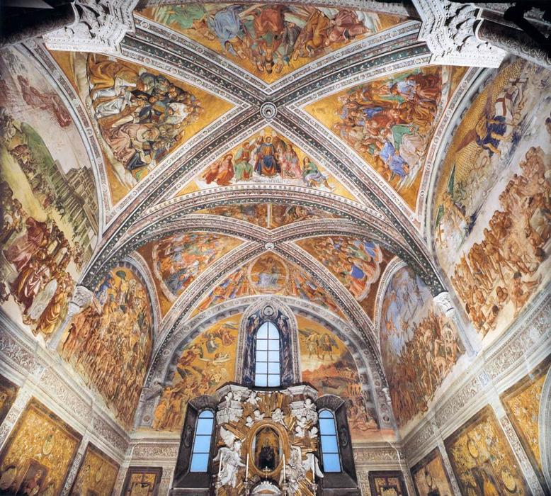 Frescoes in the Chapel of San Brizio, Frescoes by Luca Signorelli (1445-1523, Italy)