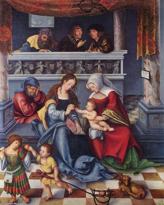 The Holy Family, Oil by Lucas Cranach The Elder (1472-1553, Germany)