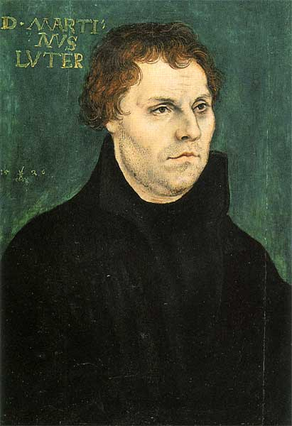 Martin Luther, Oil On Panel by Lucas Cranach The Elder (1472-1553, Germany)
