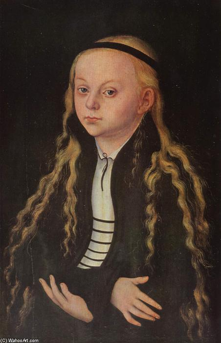 Portrait of a Young Girl (Magdalena Luther), Oil On Panel by Lucas Cranach The Elder (1472-1553, Germany)
